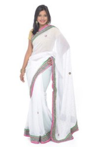 Plain Designer Saree