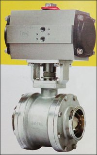 Tc End Cavity Filled Ball Valve With Actuator