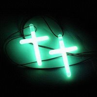 Bright Flash Glow Cross Necklace