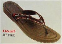 Accuafit Black Ladies Slippers