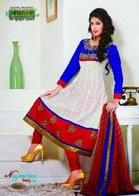 Chanderi Anarkali Suit