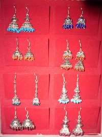 Hanging German Silver Earrings
