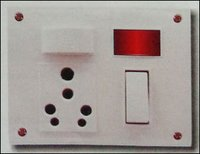 6 And 16a. 6 Switch-Socket-Fuse And Indicator (Five In One)