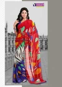 Stylish Crepe Saree