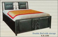Double Bed With Storage (K B 1108)