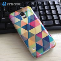 Blue Film Coated TPU Mobile Phone Back Case For Samsung Galaxy S5 I9600