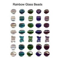 Designer Rainbow Glass Beads