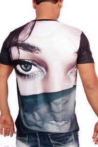 Mens Round Neck T-shirt (Eye Of The Girl)