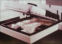 Wooden Double Bed With Storage System