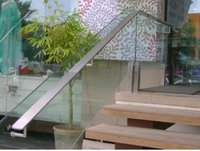 SS Glass Railing With Glass