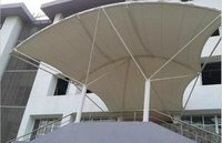 Commercial White Tensile Fabric Structure