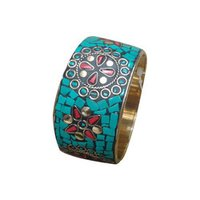Lakh And Brass Bangle