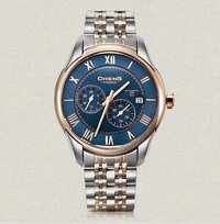 Stainless Steel Strap Double-Sided Coating Sapphire Blue Dial Watch