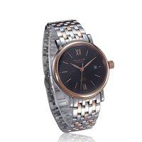 Gold-Tone Gentlemen Black Dial Watch