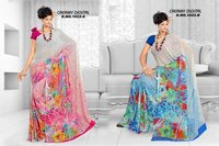Creamy Digital Print Saree