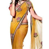 Embroidered Synthetic Fancy Sarees