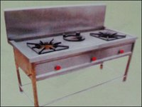 High Pressure Three Burner Gas Cooking Range