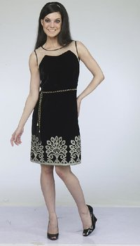 Traditional Ladies Black Color Dress