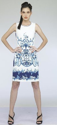 Ladies Printed Short Dress