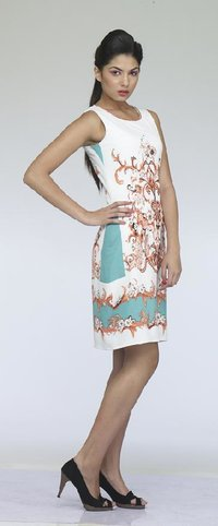 Ladies Printed Design Short Dress