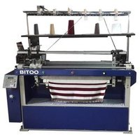 Computerized Rib Flat Knitting Machine