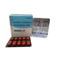 Paracetamol Aceclofenac And Serratiopeptidase Tablets