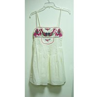 Strap Embroidered Top