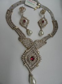 Diamond Ruby Necklace Set