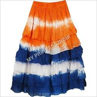 Colored Designer Frill Skirt