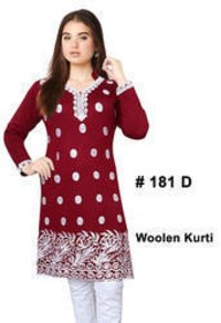 Attractive Party Wear Woolen Kurti