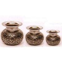 Elegant Silver Pot