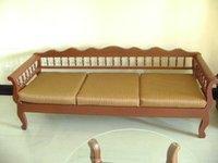 Wooden Long Sofa