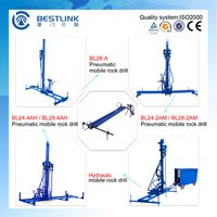 Dimensional Stone Quarry Horizontal and Vertical Pneumatic Mobile Rock Drill