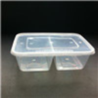 Divided Clear Microwave Safe Plastic Storage Box 650ml