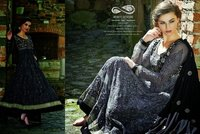 Black Designer Anarkali Suits
