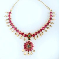 Rubies And Golddrops Necklace
