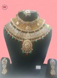 Designer Kundan Polki Necklace Set
