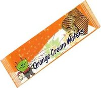 Orange Cream Wafer Biscuits