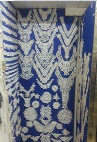 White Color Suit Neck Laces