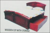 Wooden Cot With Storage