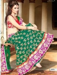 Green Bridal Wear Lehenga