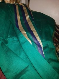 Designer Cotton Silk Saree With Stripes