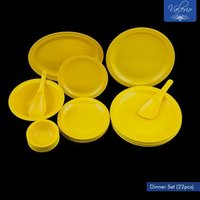 Lemon Yellow Melamine 22 Pcs Dinner Set
