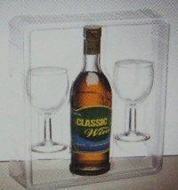 Transparent Packaging for Bottles