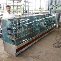 Curved Glass Sweets Display Counter