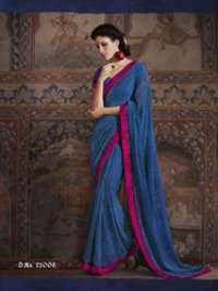 Georgette Blue Saree