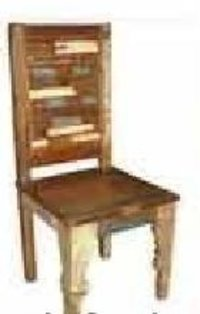 Designer Wooden Armless Chair