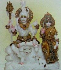 Shiv-Parvati Statues