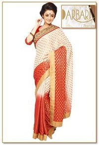 Exclusive Brocade Georgette Saree (OL-275)