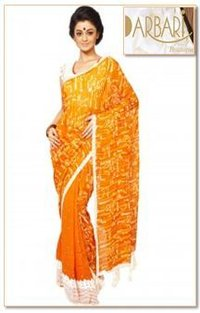 Exclusive Georgette Half And Half Batique Saree